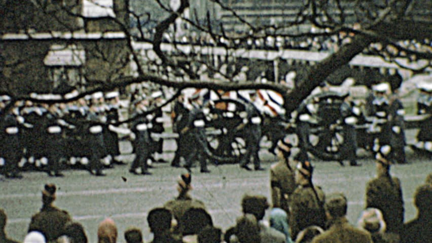 LONDON  30th January 1965: Winston Churchill funeral parade on 30th January 1965 in London