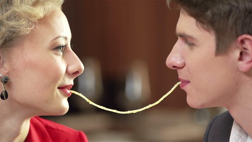 Romantic couple closeup with a creamy climax 2