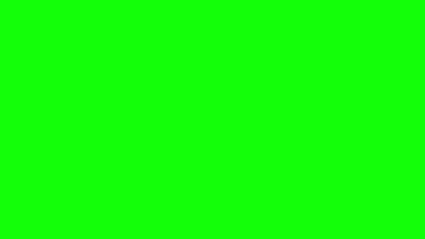 Abstract element wipe on green screen