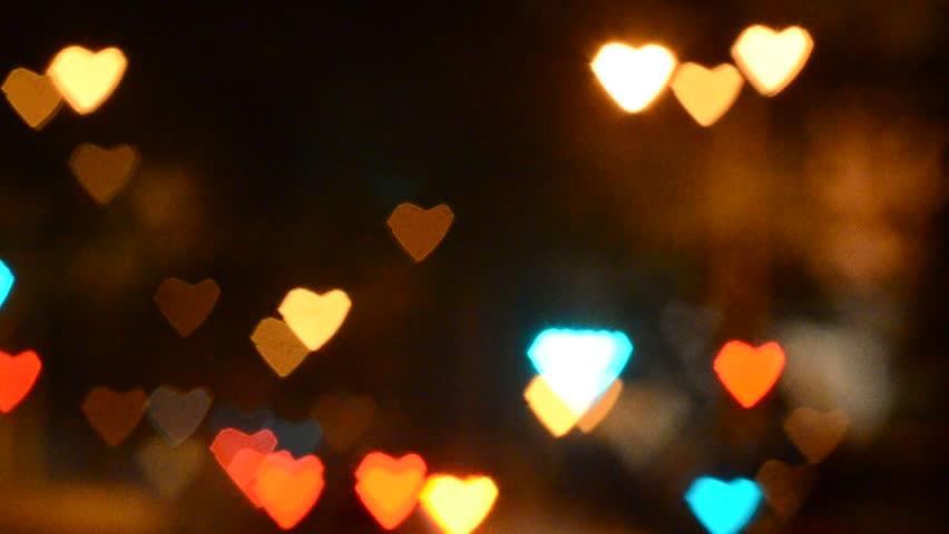 Bokeh Heart Shape Of Light Background Stock Footage Video: Heart Shaped Road Stock Footage Video 4623392