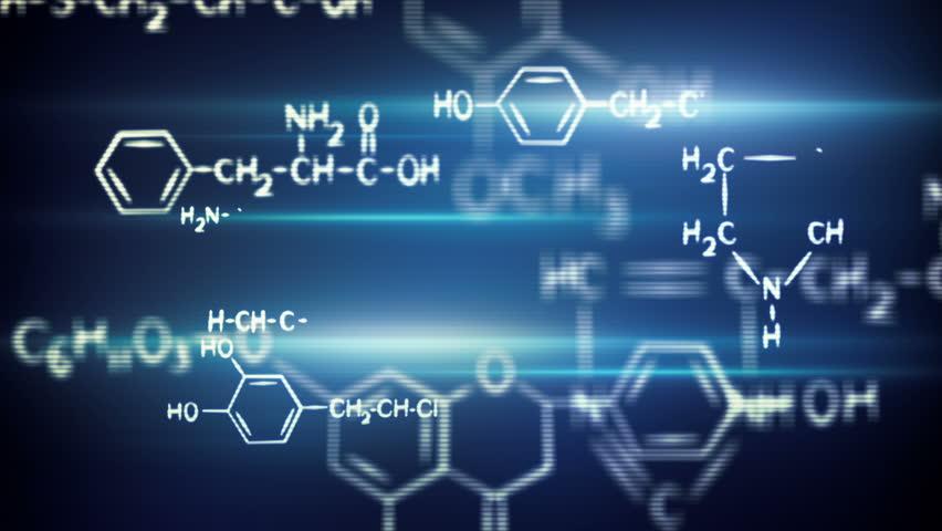 flying chemical formulas loop