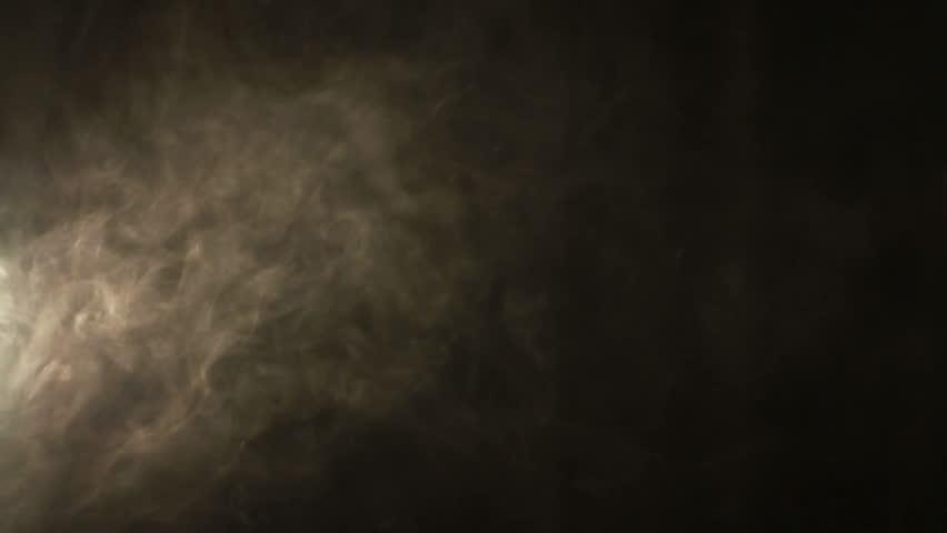 Technology Management Image: Smoke On A Black Background. Professional Studio Light And