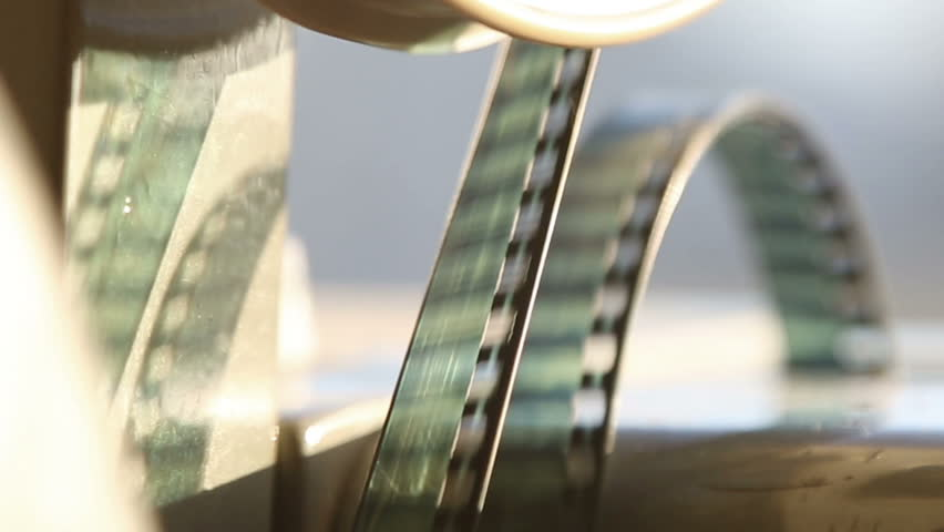 old projector showing film close-up - HD stock video clip