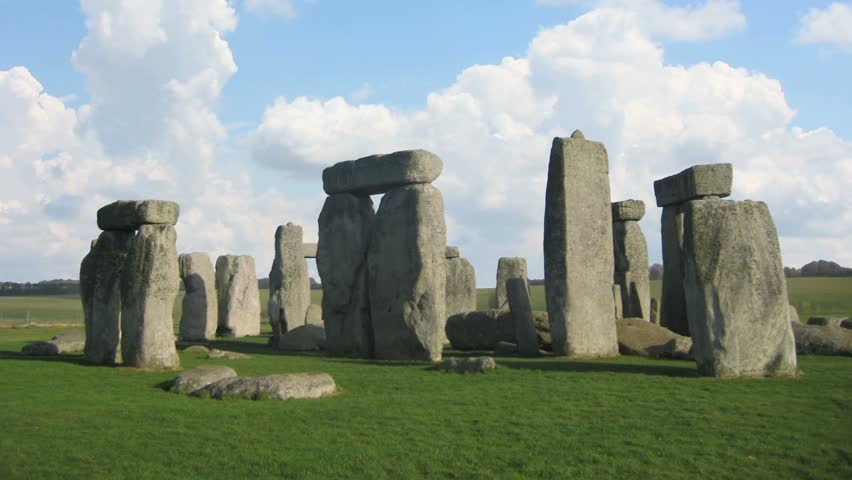 Stonehenge clouds fly fast