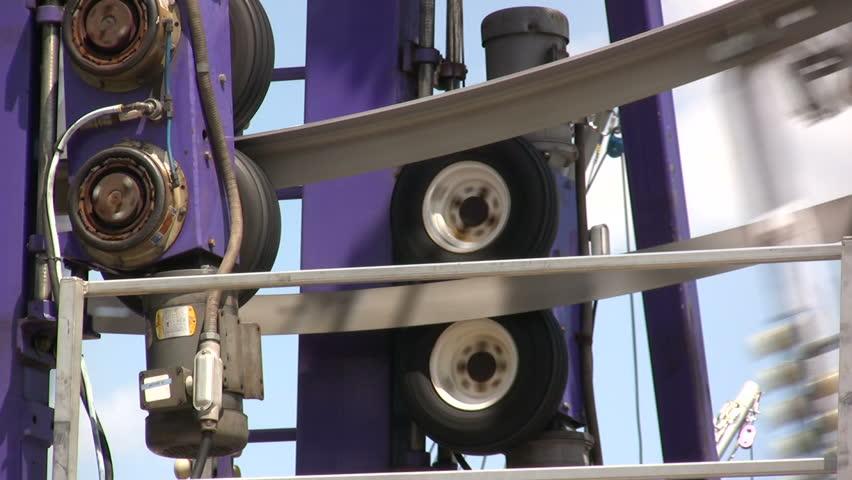 Ferris Wheel Powering Mechanics Detail - HD stock footage clip