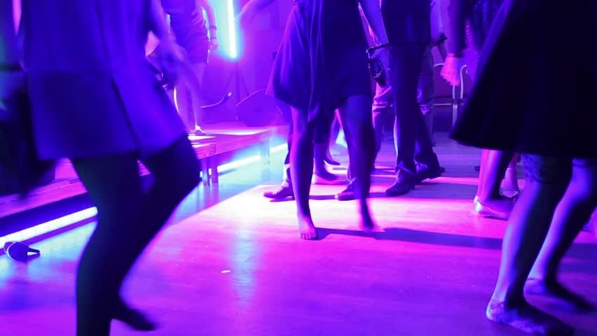 dancing crowd - HD stock video clip