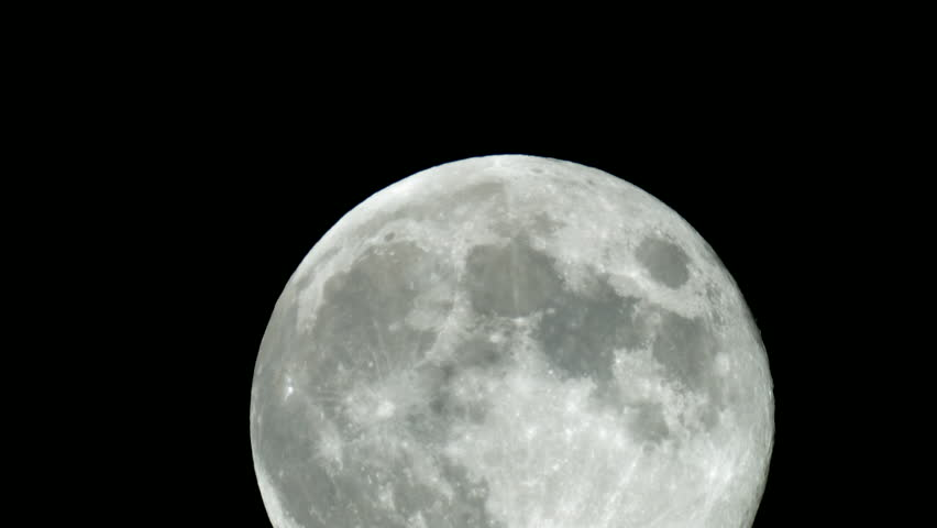Super moon close up 2 stock footage video 4950062 - Moon close up ...