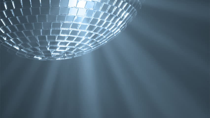 Disco ball with reflected moving blue rays, HD 1080i | Shutterstock HD Video #5738459