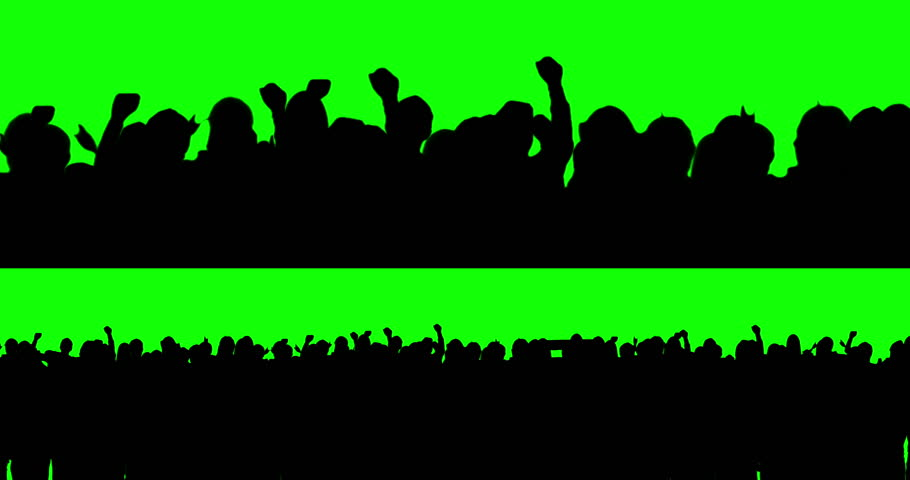 Football fans on green screen. Waving. | Shutterstock HD Video #5763443