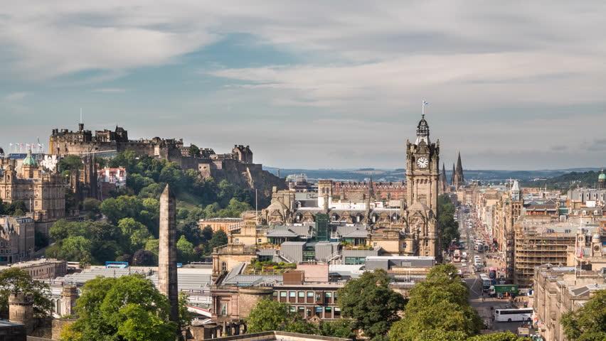 4K Version of Edinburgh old town Timelapse from carlton hill