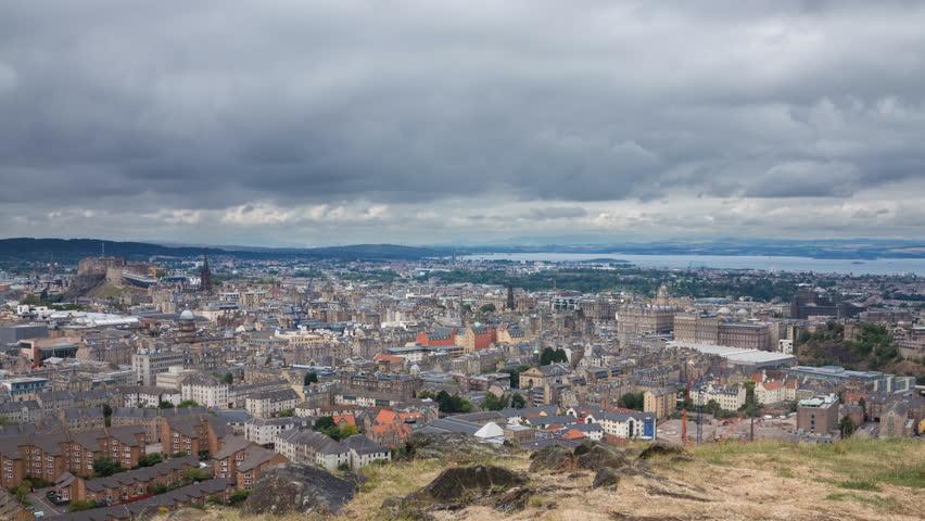 4K version of Edinburgh old town Timelapse from Arthur's Seat