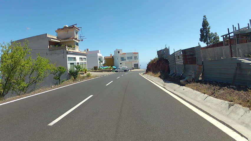 Driving on the urban roads of Tenerife, Spain - HD stock footage clip