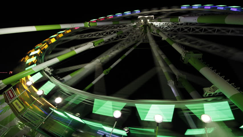 Ultra HD 4K Time lapse Sequence of Ferris Wheel