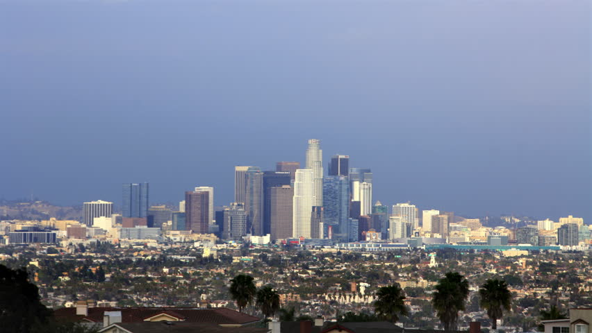 Los Angeles Timelapse 26 Downtown Clouds | Shutterstock HD Video #5839016