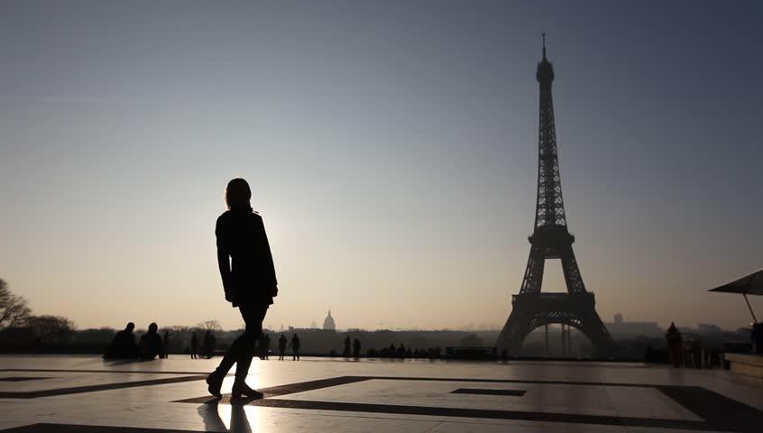 Happy couple near Eiffel tower in Paris, France | Shutterstock HD Video #5841014