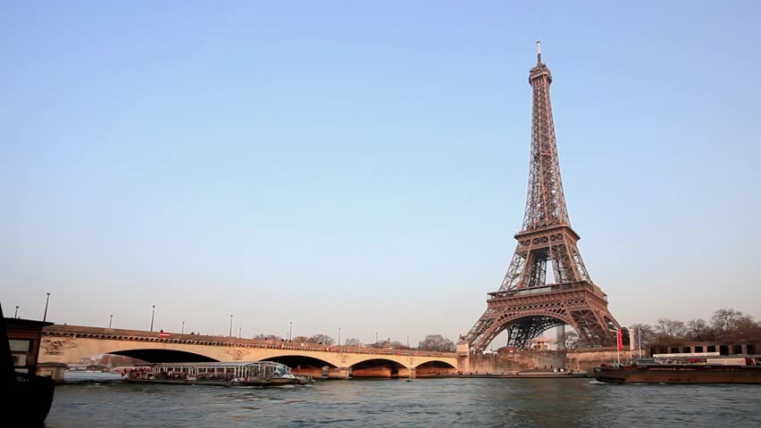 View of the Eiffel Tower in Paris - France | Shutterstock HD Video #5878985