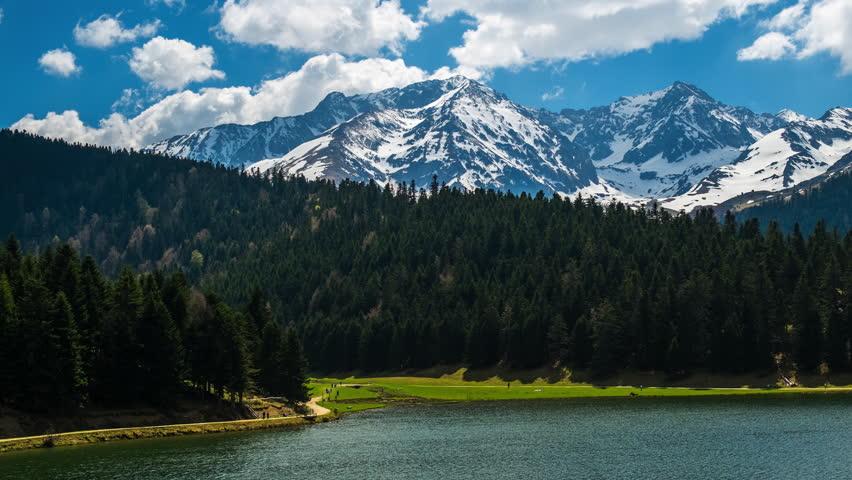 Beautiful lake view time-lapse