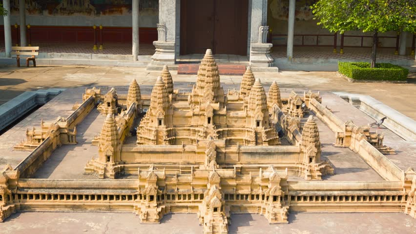 Phnom penh cambodia 29 dec 2013 model of angkor wat for Wat architecture