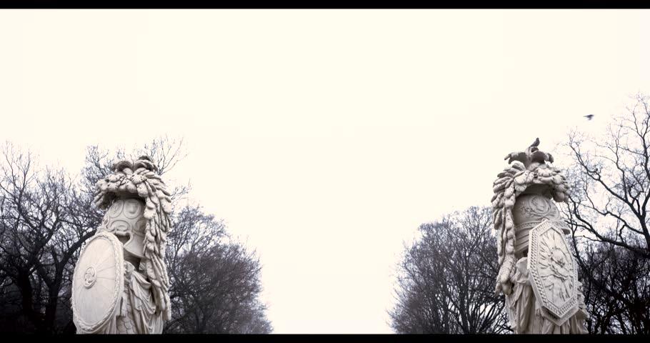 Vienna, Austria, January 2014 - A Dark Schoenbrunn in the morning