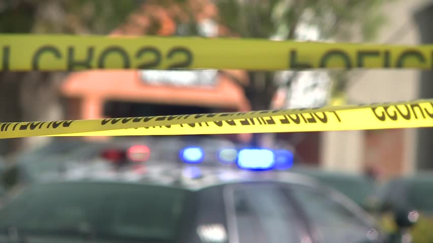 POLICE CSI CRIME SCENE WITH POLICE TAPE AND EVIDENCE MARKERS HIGH DEFINITION | Shutterstock HD Video #5979587