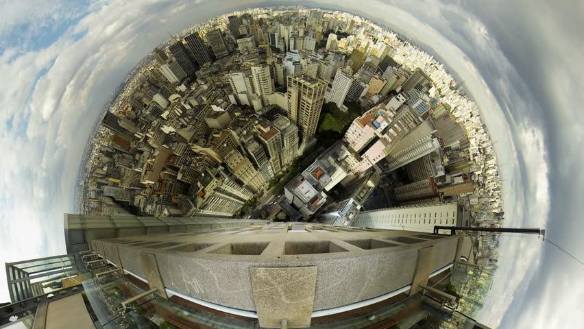 Sao Paulo Brazil skyline video panorama time lapse