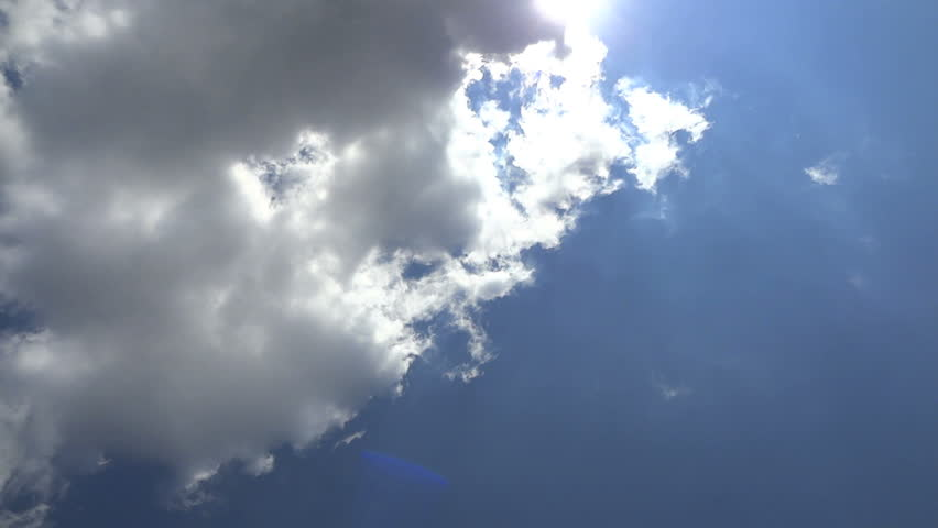 Clouds in the sky, sunny day, time lapse. Progressive scan. No audio. | Shutterstock HD Video #6008459