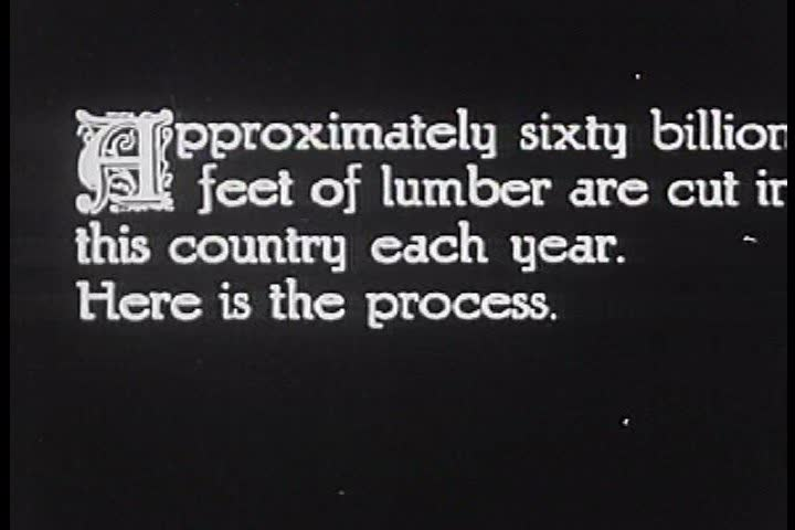 CIRCA 1910s - The lumber industry in America in 1920. - SD stock footage clip