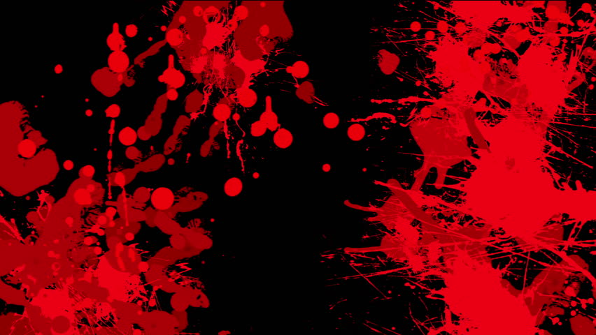 red blood on black background stock footage video 6063485