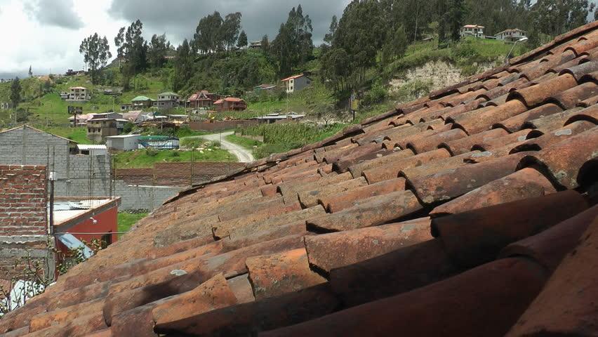 Cuenca Ecuador Apr 2014 Old Red Tile Roof Aka