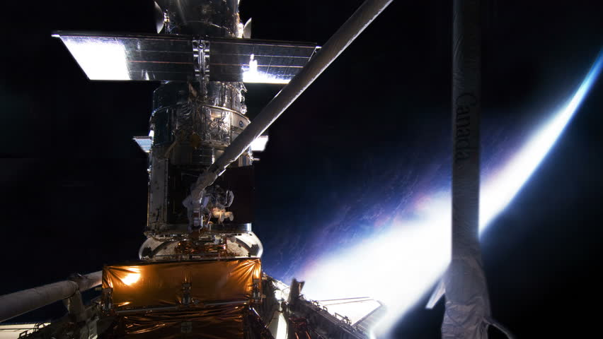 Hubble Space Telescope Being Worked On