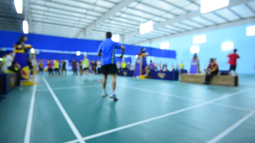 Badminton court stock footage video shutterstock for Indoor badminton court height