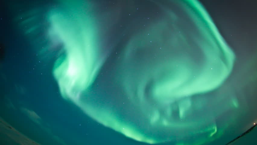 Northern lights from Canada arctic - 3 clips time lapse