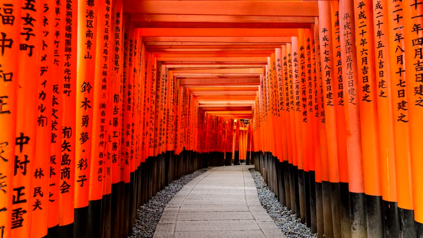 KYOTO, JAPAN - APRIL 21, 2014: POV Time Lapse Through ...