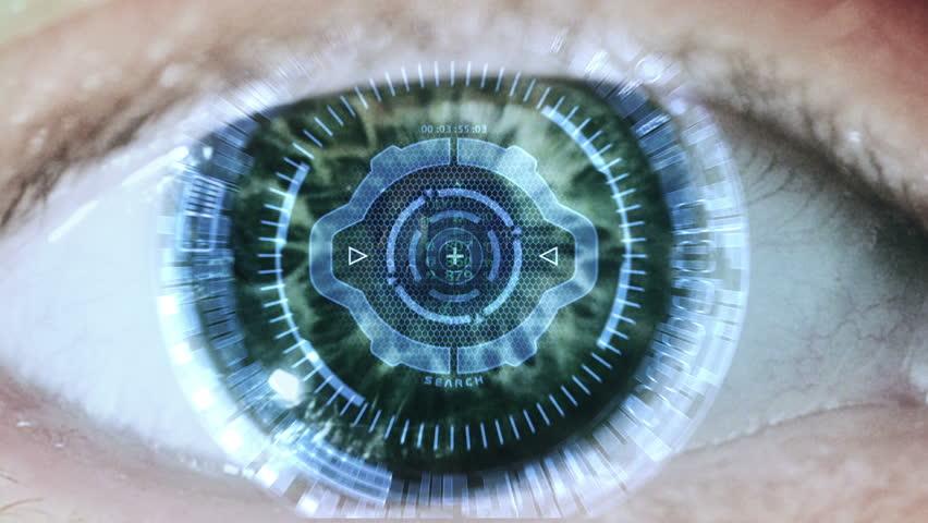 Cybernetic brain. Zooming through eye. | Shutterstock HD Video #6236564