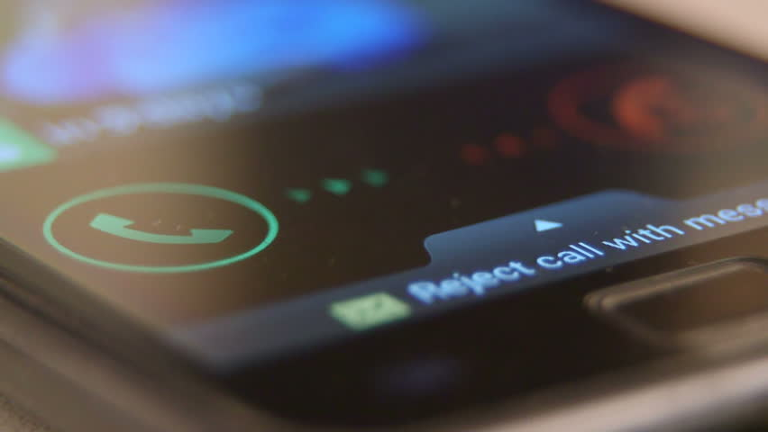 Incoming call request on smart phone display | Shutterstock HD Video #6265706