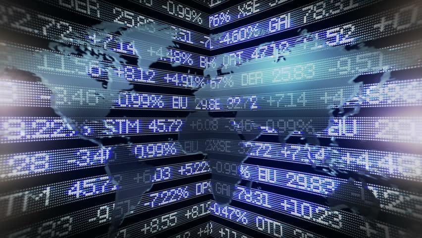 Stock an world map - HD stock video clip