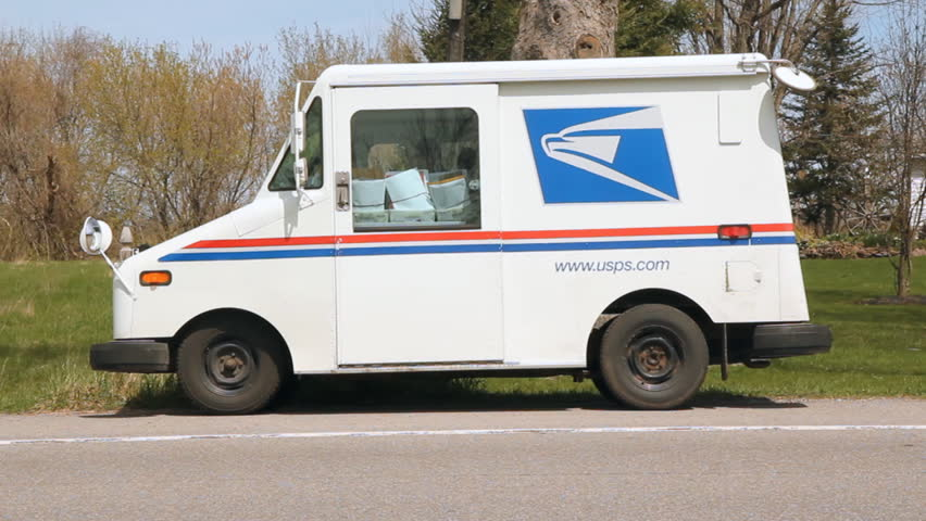 NY STATE, USA on MAY 5th : USPS truck in rural New York State, USA on May 5th, 2014.  The United States Postal Service is an independent agency of the US government that provides postal service.