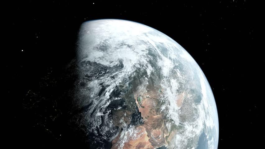 Realistic Earth slow zoom in 4k