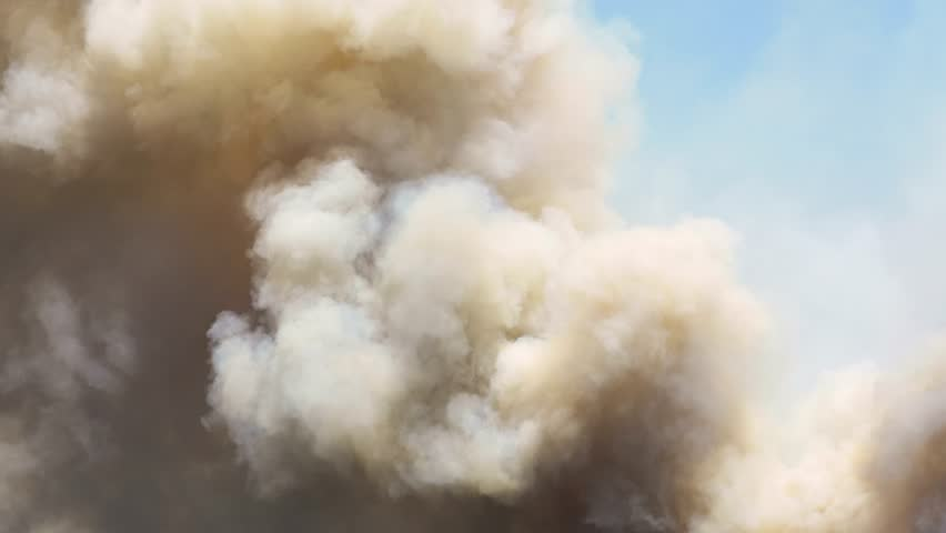 Abstract Smoke From Large Wild Fire 4k