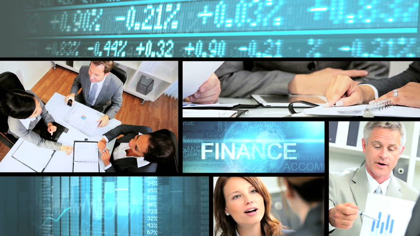 Video business montage managers closing deal online - 3D video business montage of Multi ethnic male female finance managers closing deal online touch screen technology