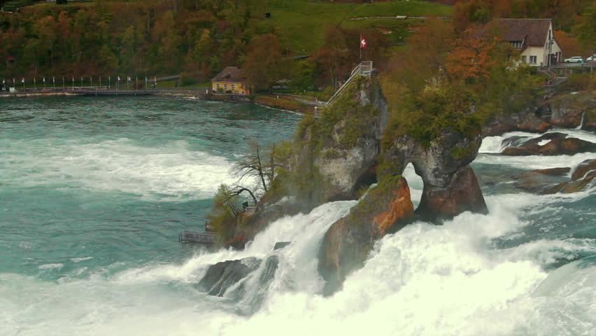 Rhine Waterfall, Switzerland circa 2012 - HD stock footage clip