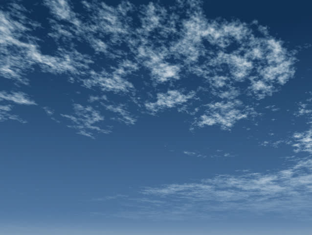 Flying through light fluffy clouds into a rich blue sky.  Original Animation