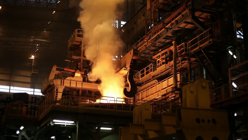 Metallurgical plant, metal pipes payment - HD stock video clip