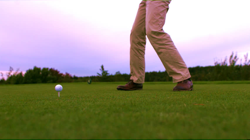 how to hit a golf ball slow motion