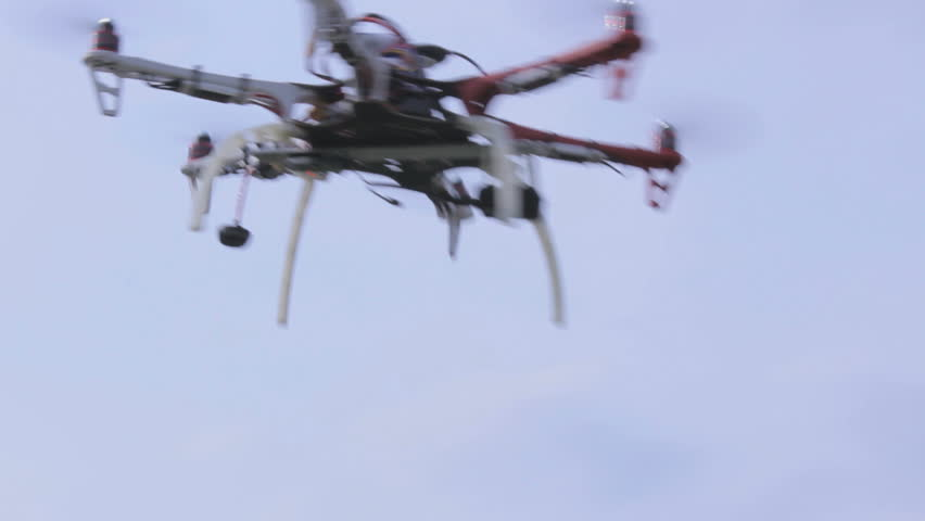 Drone flying in the sky, view from the bottom up   Shutterstock HD Video #6442178