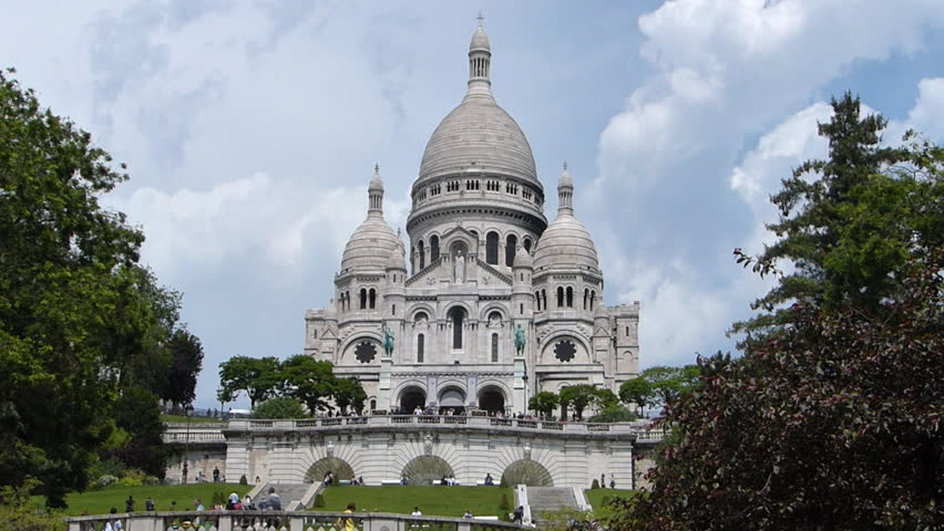 Sacre Coeure Cathedral In Paris, France | Shutterstock HD Video #6495017