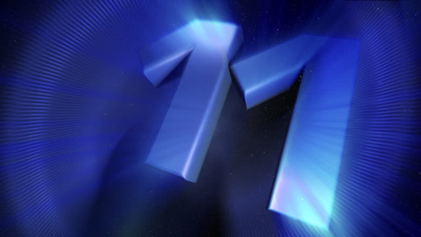 countdown video in blue and white shades - HD stock video clip