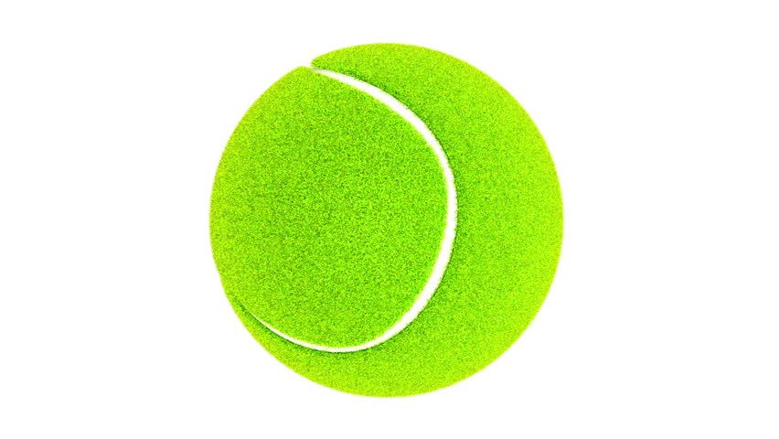 ball for tennis with realistic fleecy texture rotate on