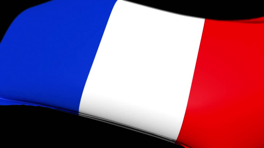 France Flag wrapped over invisible heart. Comes with the Alpha Matte