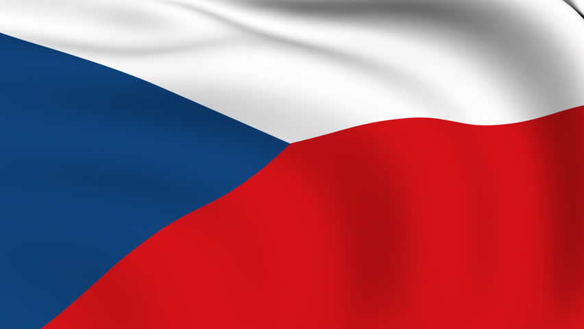 Flying Flag of Czech Republic | LOOPED |  - HD stock footage clip